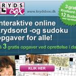 Krydsbox - Godt sted til soduko og krydsord på nettet