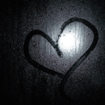 Hjerte tegnet på vindue