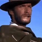 Cleat Eastwood - billede fra den populærewestern film: Den gode, den onde og den grusomme