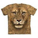 T-Shirt med dyreprint - Løve