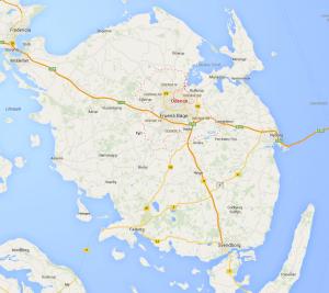Der er masser af gode oplevelser på Fyn, hvor Odense som den største by ligger ca. i midten adf øen.